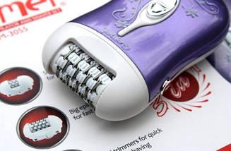 Эпилятор пемза Gemei GM-3055 3в1 мощный качественный эпилятор для удаления волос дома, фото 3