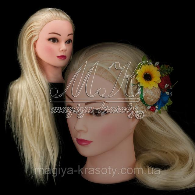 Учебная голова 20% натуральных волос