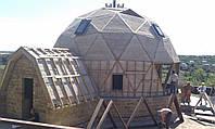 Утепление геодезических купольных домов