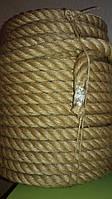 Веревка джутовая для декора деревянного дома диам. 20 мм (в бобинах по 50 м.п.), фото 1