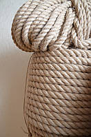 Веревка джутовая для декора деревянного дома диам. 18 мм (в бобинах по 50 м.п.), фото 1