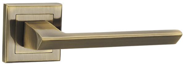 Ручка раздельная Punto (Пунто) BLADE QL SN/CP-3 матовый никель/хром/зеленая бронза