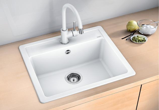 Гранитная кухонная мойка Blanco Legra 6 (белый)