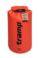 Гермомешок Tramp PVC Diamond Rip-Stop оранжевый 15 л TRA-112-orange, фото 1