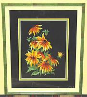 Набор для вышивки крестом Красивые цветы. Размер: 18,5*26 см