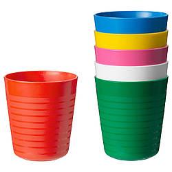 КАЛАС Набор детских стаканов, 6 штук, разноцветный, 30421297, ИКЕА, IKEA, KALAS