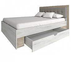 """Ліжко 160 """"Мілана"""" (дуб крафт білий)"""