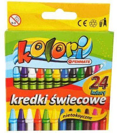 Карандаши восковые Kolori Penmate 24 цвета 35349-1107, фото 2