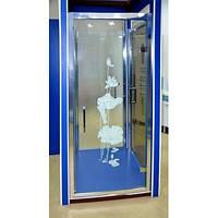 🇮🇹 Душевые двери Italian Style FONTE silk sсreen J019 1000х1850 мм M151 Оj AK