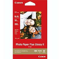 Фотобумага Canon Photo Paper Plus Glossy II Глянцевая 260г/м кв, 10x15см, 50л (2311B003)