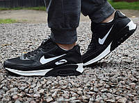 Кроссовки 43,44 размеры  мужские Nike Air Max 90 в черно-белом  цвете, фото 1