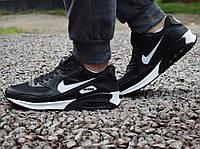 Кроссовки мужские Nike Air Max 90 в черно-белом  цвете, фото 1