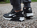 Кроссовки   мужские Nike Air Max 90 в черно-белом  цвете, фото 2