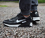 Кроссовки   мужские Nike Air Max 90 в черно-белом  цвете, фото 5