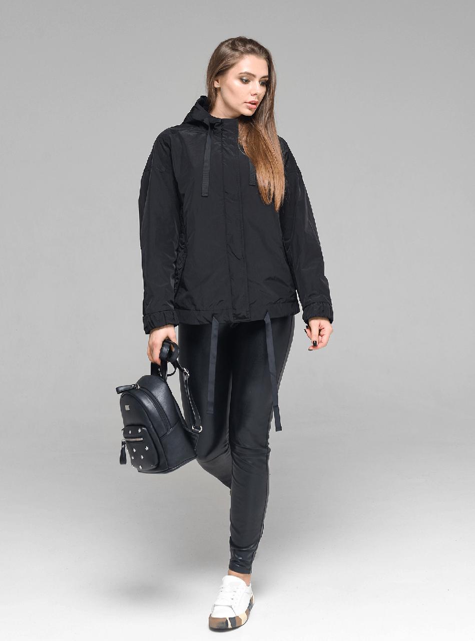 Стильная молодежная женская демисезонная куртка CW19C108CW черная - коллекция CLASNA 2019