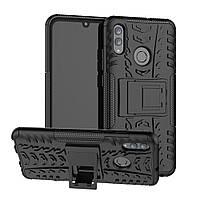 Чехол для Huawei P Smart 2019 / 51093FTA / POT-LX1 противоударный бампер черный