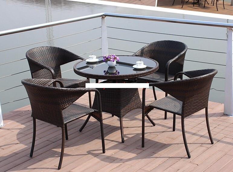 Обеденный комплект мебели для сада Porto 4+1