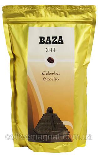 Натуральна кава в зернах 100% арабіка Колумбія Ексельсо ТМ Baza 500 г