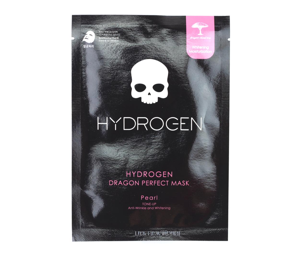 Осветляющая тканевая маска с жемчугом HYDROGEN DRAGON PERFECT MASK PEARL - 1 шт.