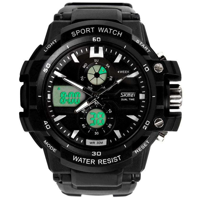 Skmei 0990 resist черные мужские спортивные часы