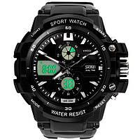 Skmei 0990 resist черные мужские спортивные часы, фото 1