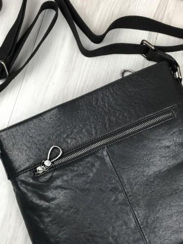 5b7c6ba8e9e4 ... Брендовая кожаная женская сумка мессенджер Armani Jeans черная через плечо  унисекс Армани Джинс люкс реплика,