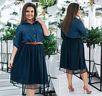 Стильное молодёжное платье   (48-58)