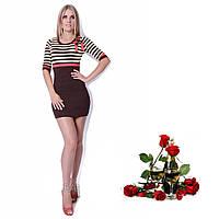 Короткое трикотажное  Платье C5781