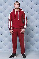 Спортивный костюм мужской с лампасами бордо, фото 1