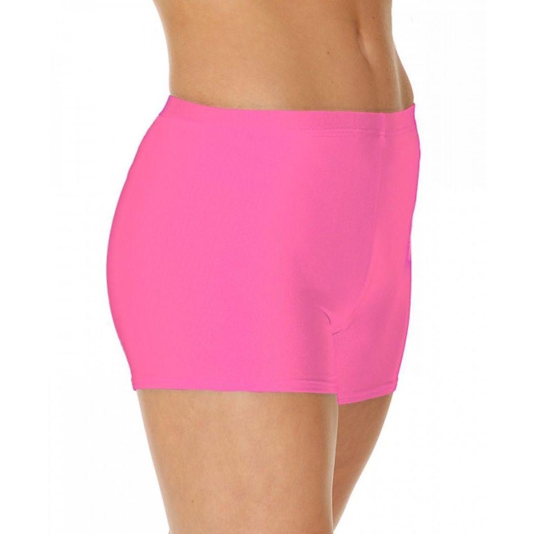 Спортивные детские шорты для танцев и гимнастики бифлекс Розовый