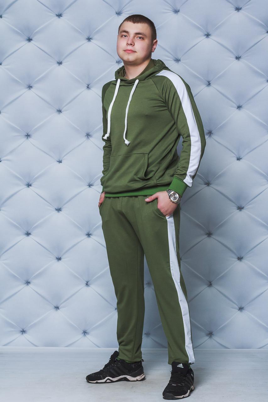 Спортивный костюм мужской с лампасами хаки