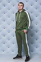 Спортивный костюм мужской с лампасами хаки, фото 1
