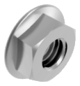 Гайка М12 с фланцем шестигранная метрическая, сталь, кл. пр. 8, ЦБ (DIN 6923)