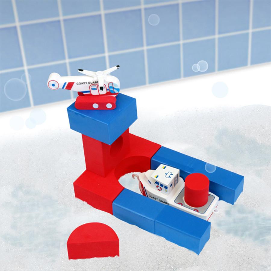 Лодка и вертолет. Плавающие блоки (JustThinkToys 22091)