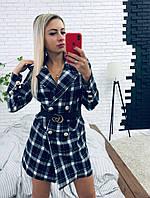 """Платье женское из костюмной ткани длинный рукав """"Софт"""", фото 1"""