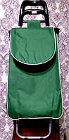"""Хозяйственная сумка на колесах """"Зеленый"""""""