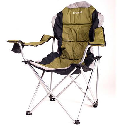Кресло складное с регулируемым наклоном спинки Ranger FC 750-052 Green, фото 2