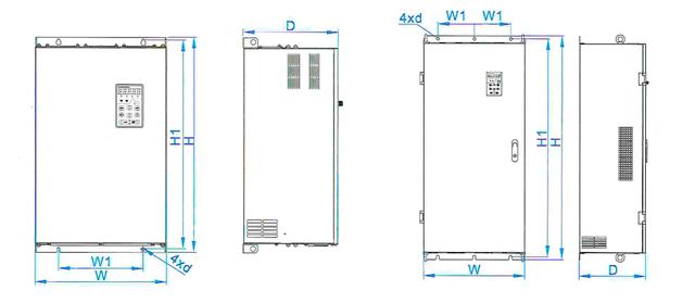 Структурная схема F2-4 - F2-10 - размеры