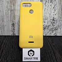 Силиконовый чехол для Xiaomi Redmi 6 Желтый