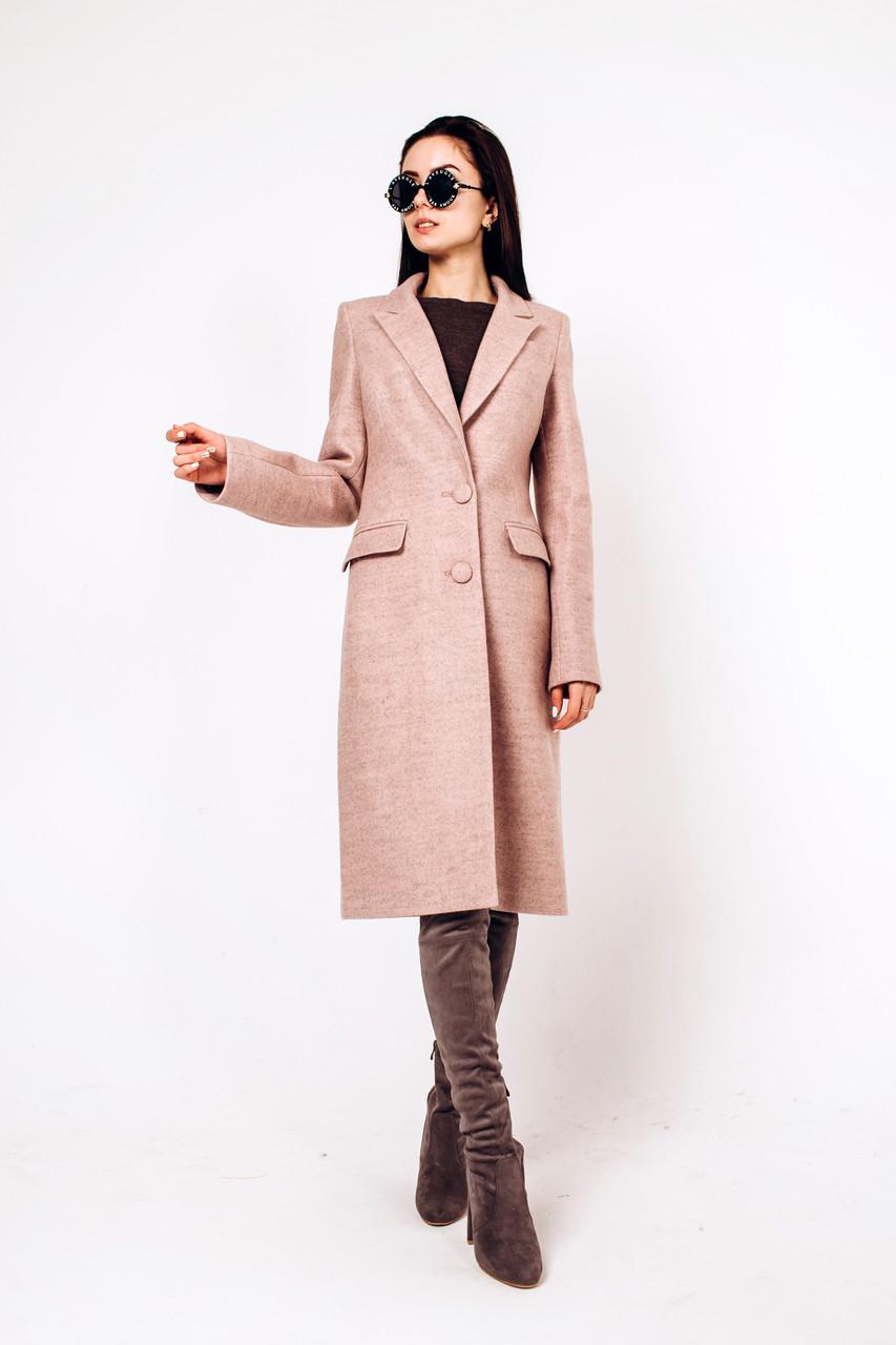 Пальто осеннее из шерсти Д 290 розовый