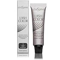 Фарба для брів і вій 1 (чорний) Lash color Levissime