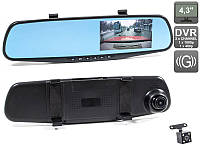 Видеорегистратор-зеркало Vehicle Blackbox DVR Full HD, регистратор в авто
