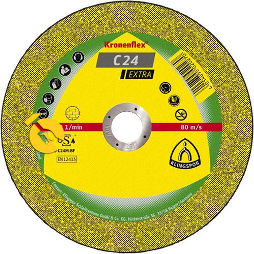 Круг відрізний по металу Kronenflex Extra C24 125Х2,5Х22,23мм