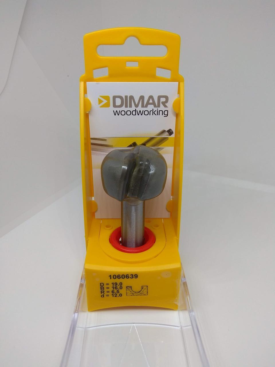 Фреза концевая DIMAR с нижним скруглением R=6.35 D=19.1 d=12