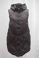 """Хит!!! Женская  стеганная удлиненная безрукавка фабричный Китай """"Звезда"""", фото 1"""