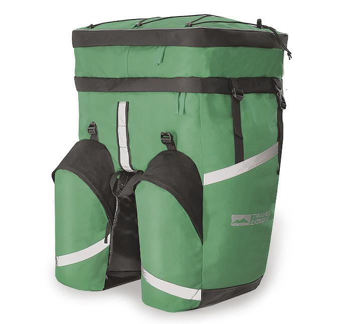 Велобаул MONO 75L зелёный TravelExtreme