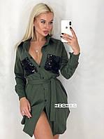 Женское стильное платье - рубашка  ВП1195, фото 1