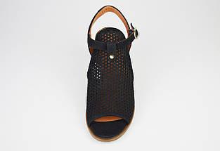 Босоніжки жіночі нубук чорні Ripka 185276, фото 3