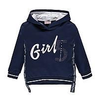 Толстовка для дівчинки з капюшоном BRUMS 191BGFC002-284 синя 140-170
