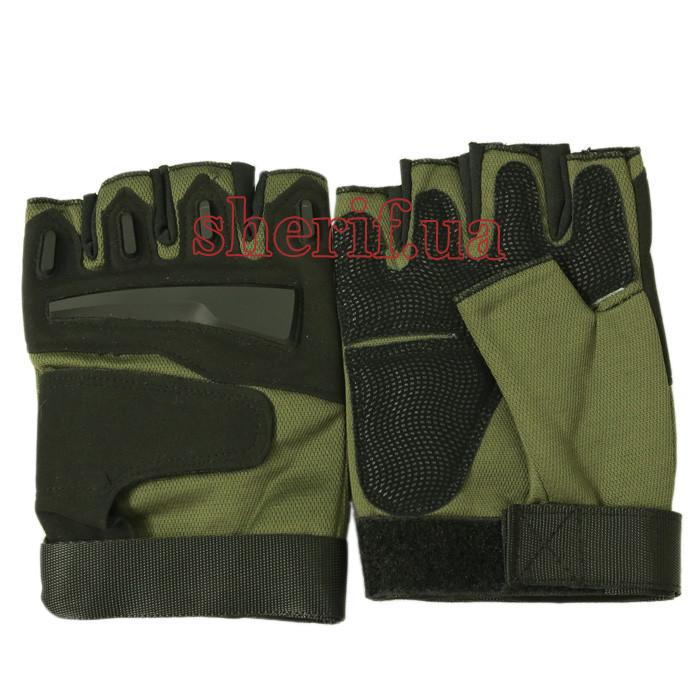 Перчатки тактические  без пальцев Olive/Black 12262